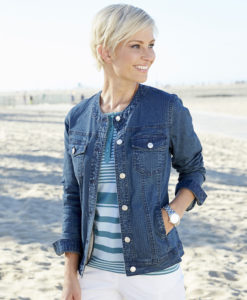 Giacca casual in jeans - Indaco Chambray