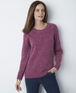 Pullover maglia chiné - Ribes nero chiné