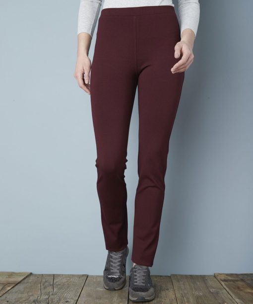 Leggings Perfect form in milano - Merlot