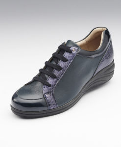 Derby stringate in pelle - Blu marino