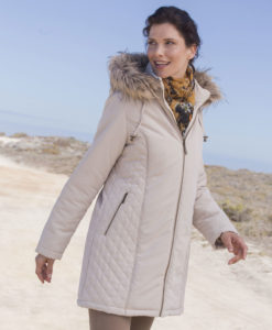 Parka in microfibra impermeabile fodera Thermolactyl - Beige